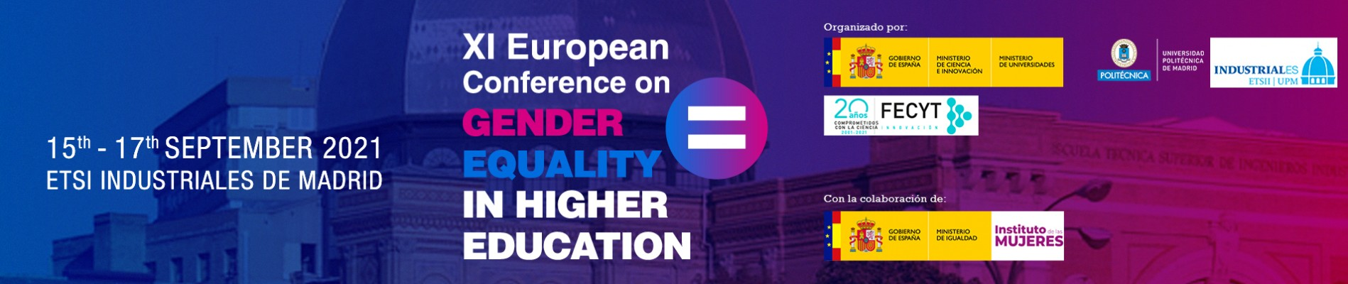 Banner 11º Congreso europeo Gender Equality in Higher Education